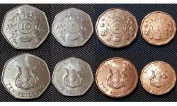 Набор из 4 монет Уганды 1987 г. 1,2,5,10 шиллингов