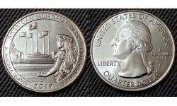 25 центов США 2019 г. Американский мемориальный парк, №47 двор D