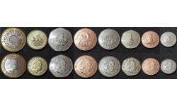 Набор из 8 монет Острова Джерси 1998-2016 гг..