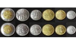Набор из 6 монет Эфиопии 2004-2010 гг.. 1,5,10,25,50 сантимов и 1 быр