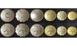 Набор из 6 монет Гонконга 1998-2013 гг.. 10,20,50 центов и 1,2,5 долларов