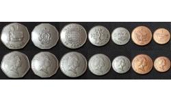 Набор из 7 монет Соломоновых островов 2005-2010 гг. 1, 2, 5,10,20,50 центов и 1 доллар