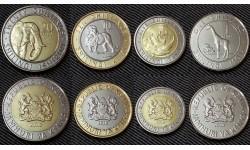 Набор из 4 монет Кении 2018 г. 1,5,10,20 шиллингов - фауна