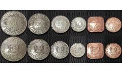 Набор из 6 монет Суринам 1989-2015 гг.. 1,5,10,25,100,250 центов