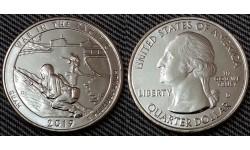 25 центов США 2019 г. Монумент воинской доблести - парк Гуам, №48 двор D