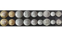 Набор из 9 монет Индии 1967-2012 гг..