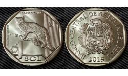1 соль Перу 2019 г. Перуанский (Андский) кот