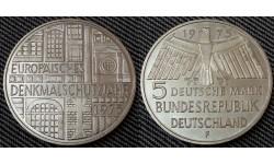 5 марок ФРГ 1975 г. Охрана памятников - серебро 625 пр.