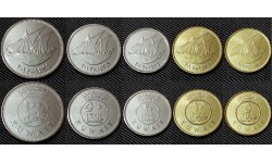 Набор из 5 монет Кувейта 2005-2012 гг.. 5,10,20,50,100 филсов