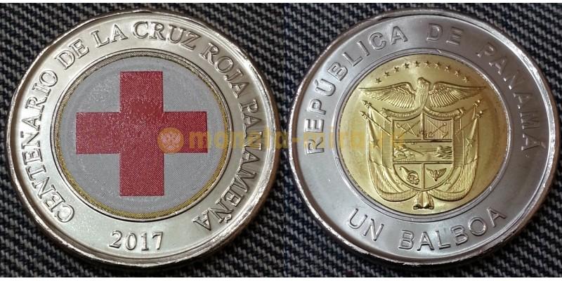 1 бальбоа Панамы 2017 г. Красный крест - цветная