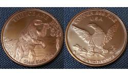 Монетовидный жетон США серия Ледниковый период, гигантский ленивец