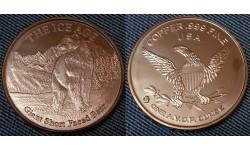 Монетовидный жетон США серия Ледниковый период, гигантский медведь