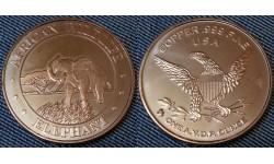 Монетовидный жетон США серия Африканская фауна, слон