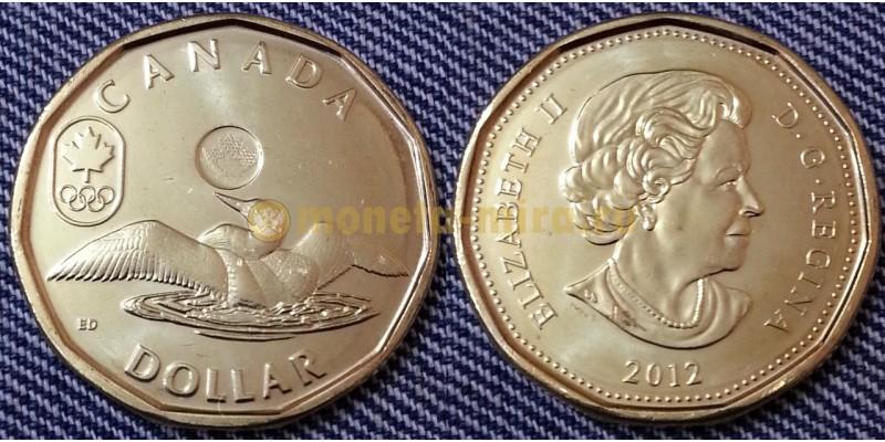 1 доллар Канады 2012 г. утка Лаки луни из серии олимпиада в Лондоне 2012
