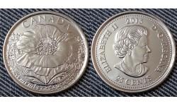 25 центов Канады 2015 г. - 100 лет стихотворению на полях Фландрии, обычная
