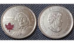 25 центов Канады 2013 г. серия война 1812 года - Лора Секорд, цветная