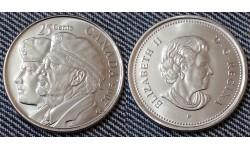 25 центов Канады 2005 г. - день ветеранов