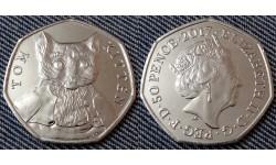 50 пенсов Великобритании 2017 г. серия: 150 летие Беатрис Поттер - котёнок Том