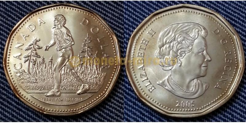 1 доллар Канады 2005 г. бегун Терри Фокс