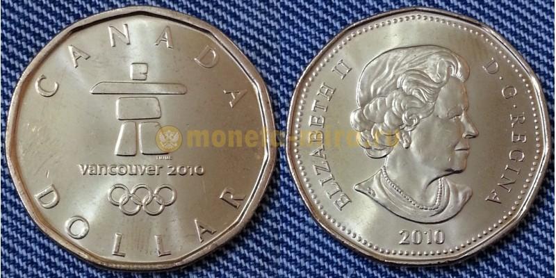 1 доллар Канады 2010 г. XXI зимняя Олимпиада в Ванкувере 2010