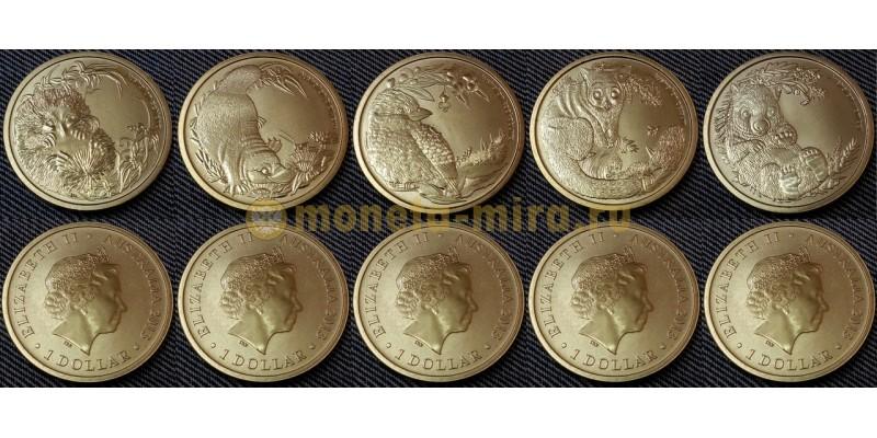 Набор из 5 монет Австралии 1 доллар 2013 г. Детеныши животных, пятый выпуск