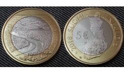 5 евро Финляндии 2018 г. - река Оланга (Оуланкайоки)