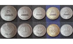 Набор из 5 монет Никарагуа 2012-2014 гг., 1,5 кордобов и 10,25,50 кванзов