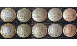 Набор из 5 монет Иордании 2008-2011гг..