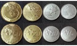 Набор из 4 монет Малайзии 2012-2014 гг. 5,10,20 и 50 сен