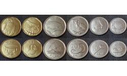 Набор из 6 монет Фиджи 2012 г. 5,10,20,50 центов и 1,2 доллара