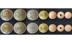 Набор из 7 монет Филиппин 2010-2013 гг.. 1,5,10,25 сентимо и 1,5,10 песо