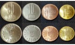 Набор из 4 монет Румынии 2016 г. 1,5,10 и 50 бани
