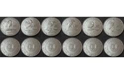 Набор из 6 монет Бурунди 2014 г. 5 франков - серия птицы