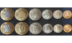 Набор из 6 монет Тайваня 1988-2016 гг.. 1/2,1,5,10,20,50 юаней