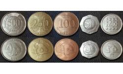 Набор из 5 монет Ливана 1996-2010 гг.. 25,50,100,250,500 ливр