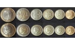 Набор из 6 монет Турции 2012-2014 гг.. 1,5,10,25,50 курушов и 1 лира