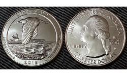 25 центов США 2018 г. Остров Блок, №45 двор D