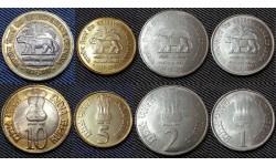 Набор из 4 монет Индии 2010 г. 1,2,5,10 рупий