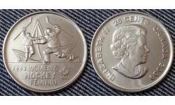 25 центов Канады 2009 г. Победа женской сборной на олимпиаде в Солт-Лейк-Сити