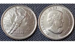25 центов Канады 2009 г. Победа сборной по хоккею на олимпиаде в Солт-Лейк-Сити