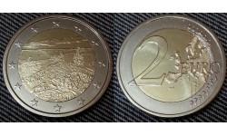 2 евро Финляндии 2018 г. Национальные ландшафты Коли