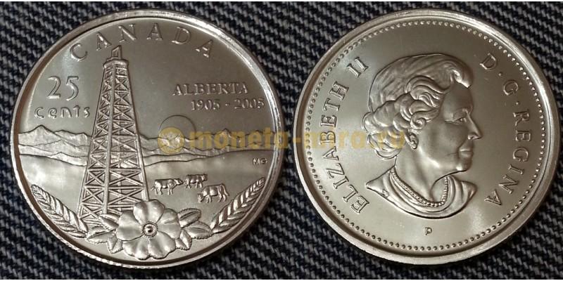 25 центов Канады 2005 г. 100-лет провиции Альберта