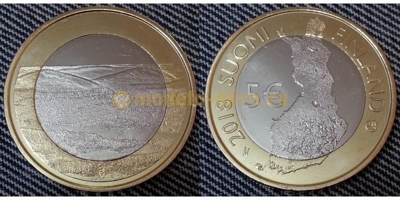 5 евро Финляндии 2018 г. Национальный парк Палластунтури