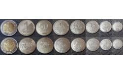 Набор из 8 монет Грузии 1993-2006 гг. 1,2,5,10,20,50 тетри и 1,2 лари