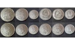 Набор из 6 монет Карибских островов 2004-2008 гг. 1,2,5,10,25 центов и 1 доллар