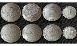 Набор из 4 монет Бурунди 1980-2011 г. 1,5,10,50 франков
