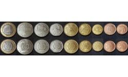 Набор из 9 монет Мозамбика 2006 г. 1,5,10,20,50 сентаво и 1,2,5,10 метикалов - серия животные