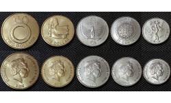 Набор из 5 монет Соломоновых островов 2012 г. 10, 20, 50 центов и 1, 2 доллара