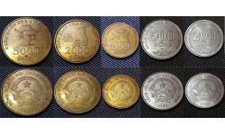 Набор из 5 монет Вьетнама 2003 г. 200, 500, 1000, 2000, 5000 донгов