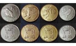 Набор из 4 монет Замбии 2012 г. 5,10,50 нгве и 1 квача